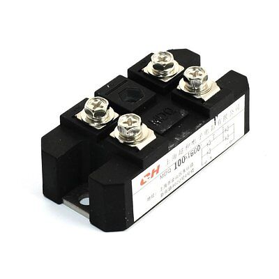 uxcell® 100A 1600V Full Wave Diode Module One Phase Bridge Rectifier MDQ-100A