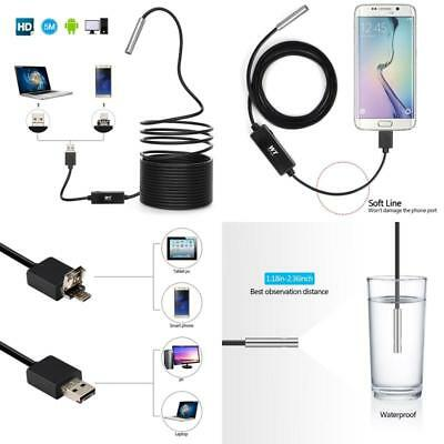 Snake Pipe Drain Plumbers Camera USB Waterproof Inspection Borescope Endoscope