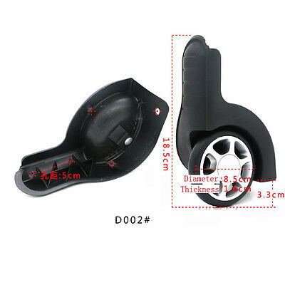 1 pair Replacement luggage Wheels Suitcase Wheel Replacement Repair for any bags