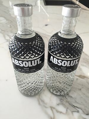 2x Absolut Glimmer Edition V2 Vodka 750ml sold as one lot Licence LIQP770016752