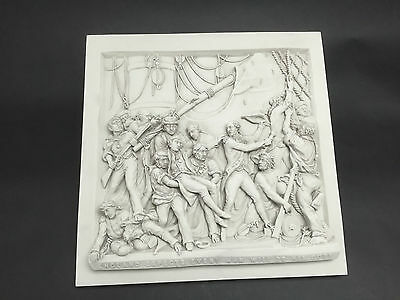 Death Of Nelson Carrara Marble wall hanging plaque Sculpture.