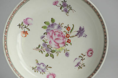 Antique 18c Qianlong Period Famile Rose Chinese Porcelain Dish China Old Qing