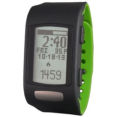 LifeTrak C300 Fitness Tracking Watch with ECG in Black with Black/Green Band.