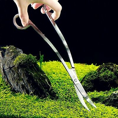 Surper Convenient Aquarium Plant Tank Stainless Steel S Curve Wave Scissors New