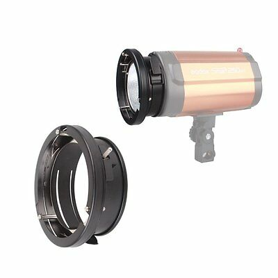 New Godox Universal Mount to Bowens Mount Speed Ring Adapter Studio Flash Strobe