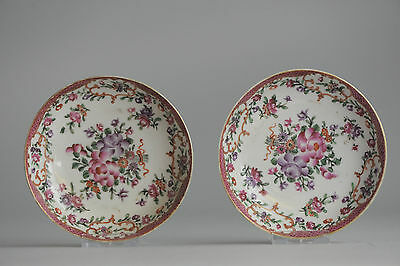 18c Qing Qianlong Pink Famille Rose Porcelain Dish Chinese China Antique Old