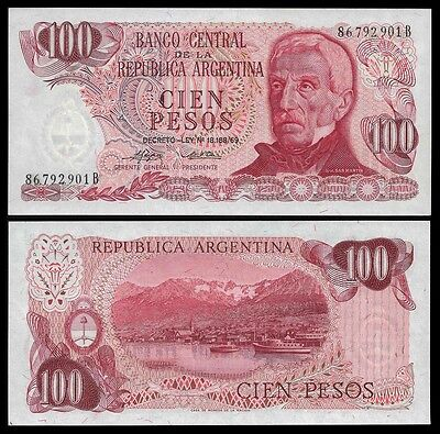 Argentina 100 PESOS Serie B ND (1973-76) P 297 UNC OFFER !