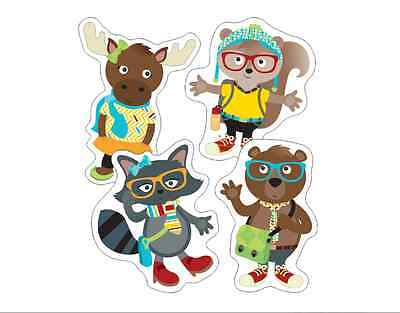 CD HIPSTER PALS Bulletin Board Cut-Out Accents (120214)
