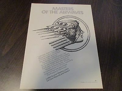 Masters of the Airwaves - Jimmy Berick  1974 Magazine Ad