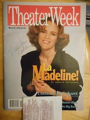 Madeline Kahn  Signed Theater Week Magazine  Autographed The Sisters Rosensweig