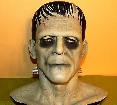 1996 CINEART BORIS KARLOFF FRANKENSTEIN Full Head Bust  w/COA & BOX