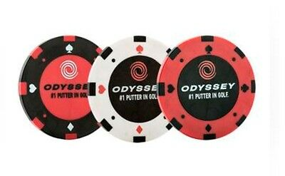 *new* Odyssey/callaway Golf Poker Chip Ball Markers (Pack Of 3)