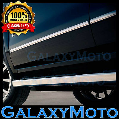 14-16 Chevy Silverado Extended Cab 4 Door Chrome Body Side Molding Front+Rear