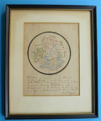ANTIQUE MAP NAPOLEON GENERAL GOURGAUD French Britain Historic Links 1818