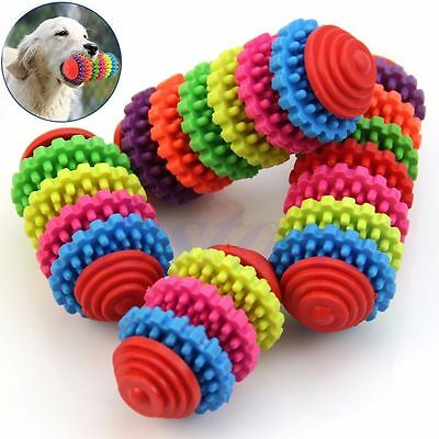 Durable Rubber Dog Puppy Cat Dental Teether Healthy Teeth Gums Chew Pet Supplies