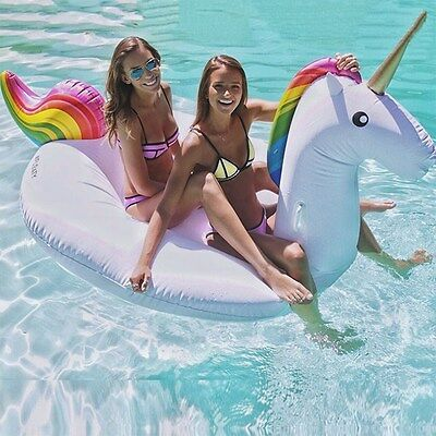 Supersize Inflatable PVC Unicorn Ride On Swimming Pool Party Outdoor Water Toy