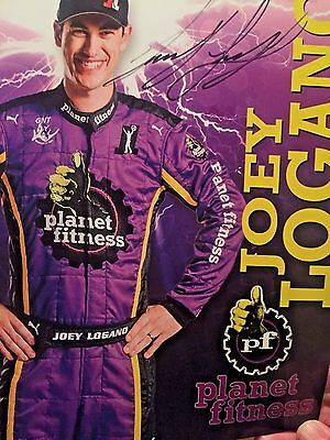 Joey Logano Signed Autographed Hero Card Planet Fitness 2016