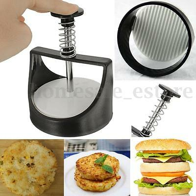 Kitchen Plastic Stuffed Press Sliders Patty Mold Burger Meat Maker Cooking Tool