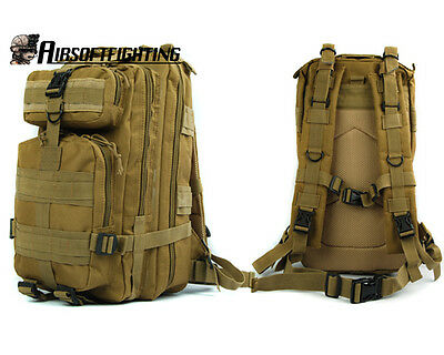 Outdoor Military Molle Tactical Camping Assault Hunting Backpack Bag Tan