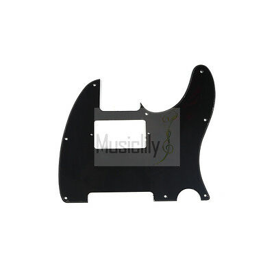 Musiclily 1Ply Humbucker Pickguard For Fender Tele Telecaster Guitar Black New