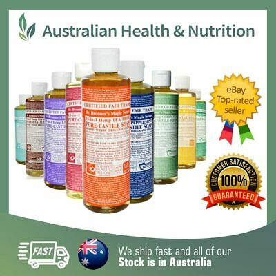 Dr Bronner's Organic Hemp Castile Liquid Soap 237Ml All 11 Varieties Available