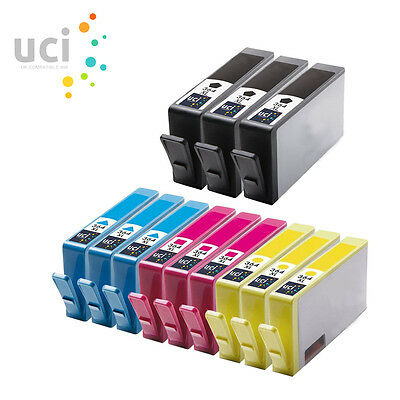 12 UCI® Ink Cartridges fits for 364XL Photosmart 5510 5515 5520 6510 7510 7520