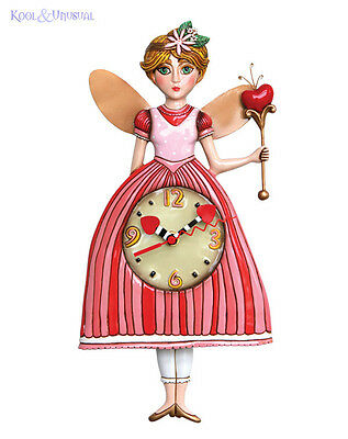 "Beautiful Pink ""Princess Pixie"" Fairy Tale Designer Wall Clock by Allen Designs"