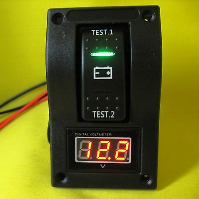 Voltmeter 12V dc LED Dual Battery Meter Test Panel Switch Car Boat Marine Volt B