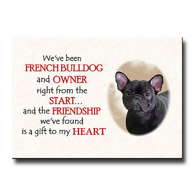 FRENCH BULLDOG Friendship FRIDGE MAGNET No 4 DOG Frenchy