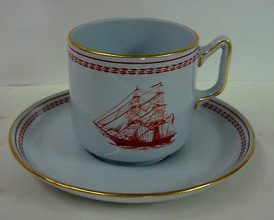 Spode TRADE WINDS RED Demitasse Cup Saucer Set W128 FOOTED Multiple Available
