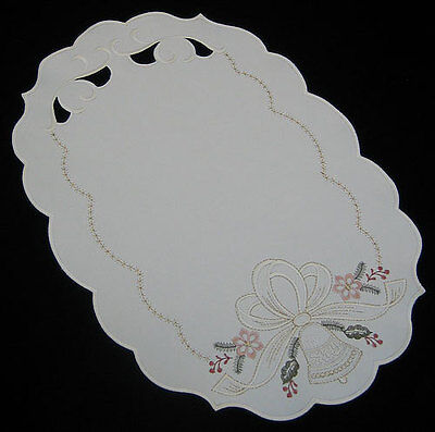 Holiday German Christmas Bells Made In Germany Table Runner