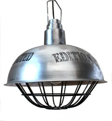 Big Industrial Pendant Dock Light Fixture Old Style Factory Vintage Replica
