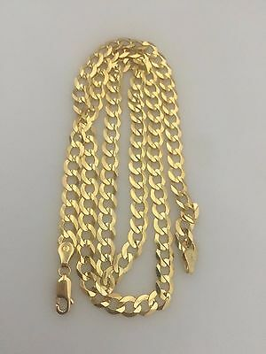 "14K Solid Yellow Gold 6mm Cuban Link Chain Necklace Men Women Size 14""-36"""