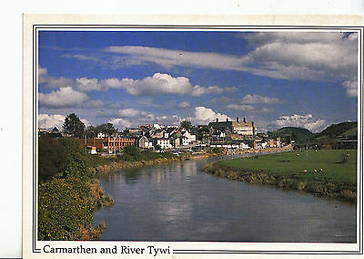 Wales Postcard - Carmarthen and River Tywi      MB1366