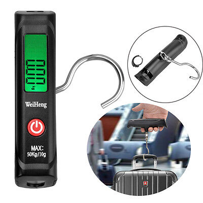 Weiheng A12 Portable LCD Digital Luggage Scale Hook Handheld for Traval Shopping