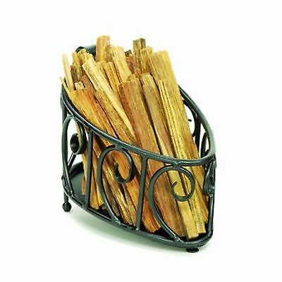 Minuteman Scrolled Wrought Iron Fatwood Caddy