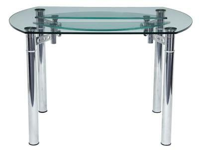 QUALITY CHROME AND GLASS 1970's DINING TABLE