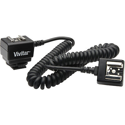Vivitar 4' Heavy Duty Off-Camera eTTL Flash Shoe Cord for Canon EOS DSLR Camera