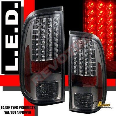 08-16 Ford F250 F350 F450 Super Duty XL XLT Pickup Smoke LED Tail Lights Lamps