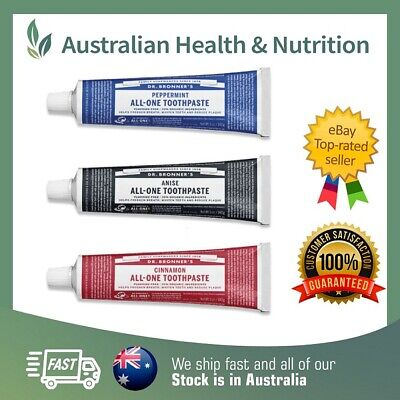 Dr Bronner's Organic All-One Toothpaste - All 3 Varieties - Natural + Sample