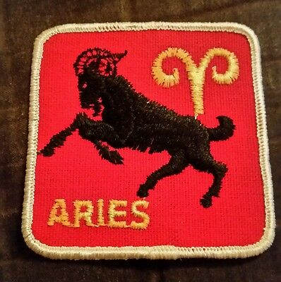 VTG ARIES ZODIAC SIGN Sew On Patch