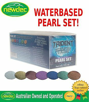 New Trident Dna Airbrush Pearl Paint Set Colours Design Pigment Waterbased Auto