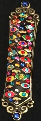 Handmade Michal Golan Mezuzah/ Many Eyes Of Protection. Great housewarming gift.
