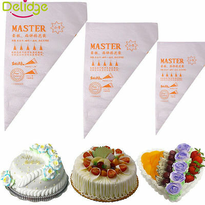 3Size 100pcs Bags Disposable Icing Piping Bags Tool Cake Decor Icing Pastry Cake