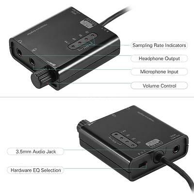 External Audio Stereo Sound Card Adapter DAC for Mac Laptop Tablet PC Black Z8Q5