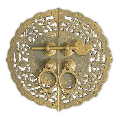 """CBH Floral Chinese Brass Hardware Cabinet Door Plate 5.5"""""""