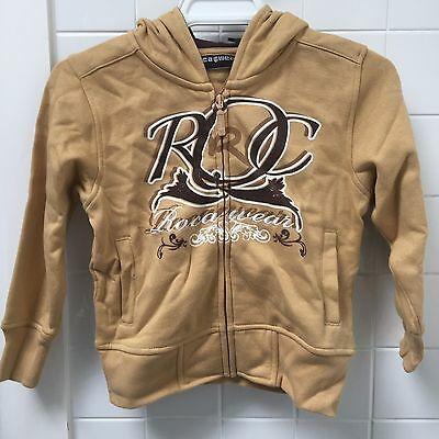 Roca Wear Boys Size 4 Beige Zip Hoodie Jacket New BNWT