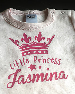 Little Princess!  Baby Girl Personalised Romper , Custom printed Gift