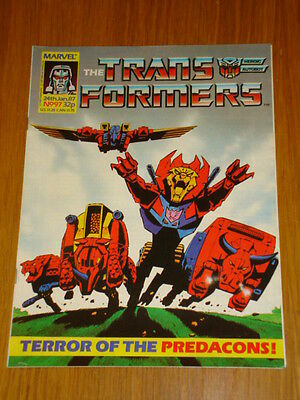 Transformers British Weekly #97 Marvel Uk Comic 1987