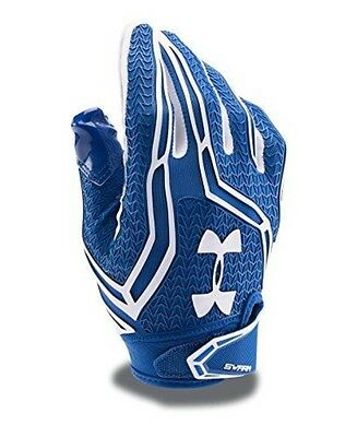 Under Armour Men's Swarm II Football Gloves, Royal (400), Large